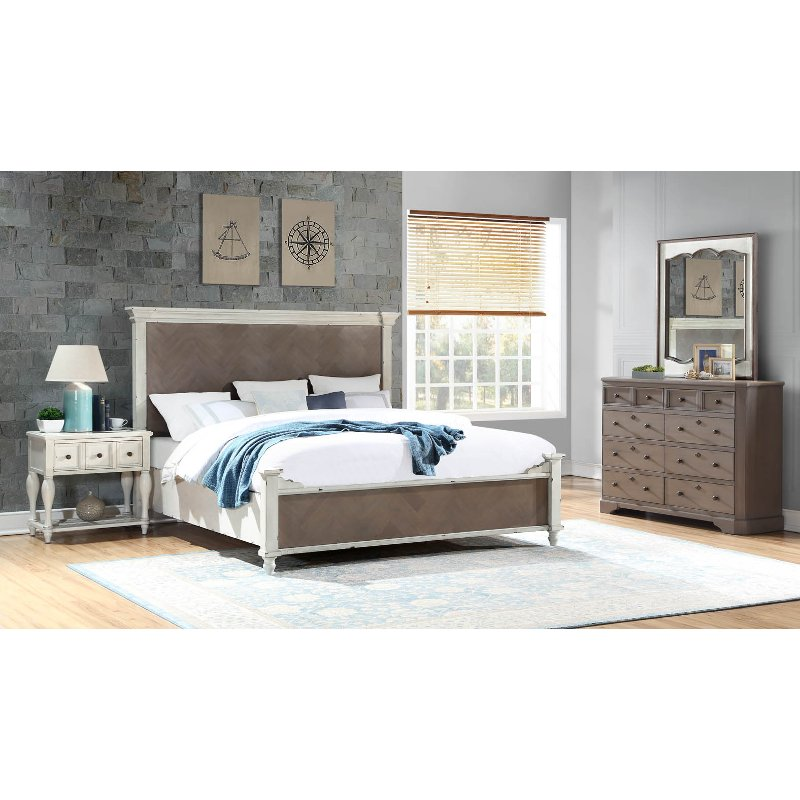 Rc Willey Truck: Rustic Two-Tone 4 Piece Queen Bedroom Set