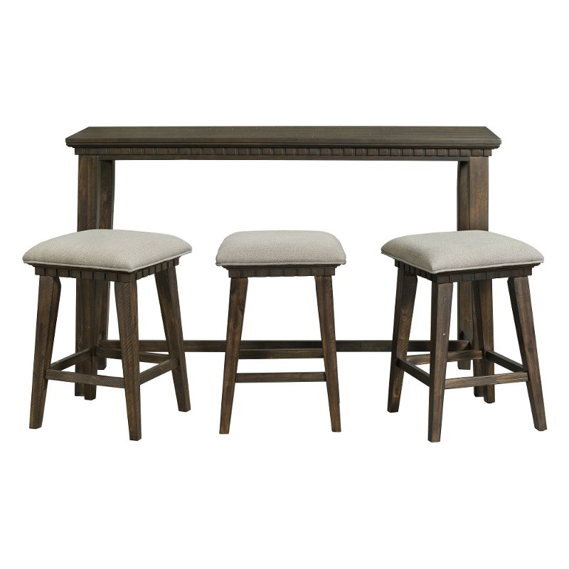 Amazing Transitional Gray 4 Piece Bar Table Set Morrison Cjindustries Chair Design For Home Cjindustriesco