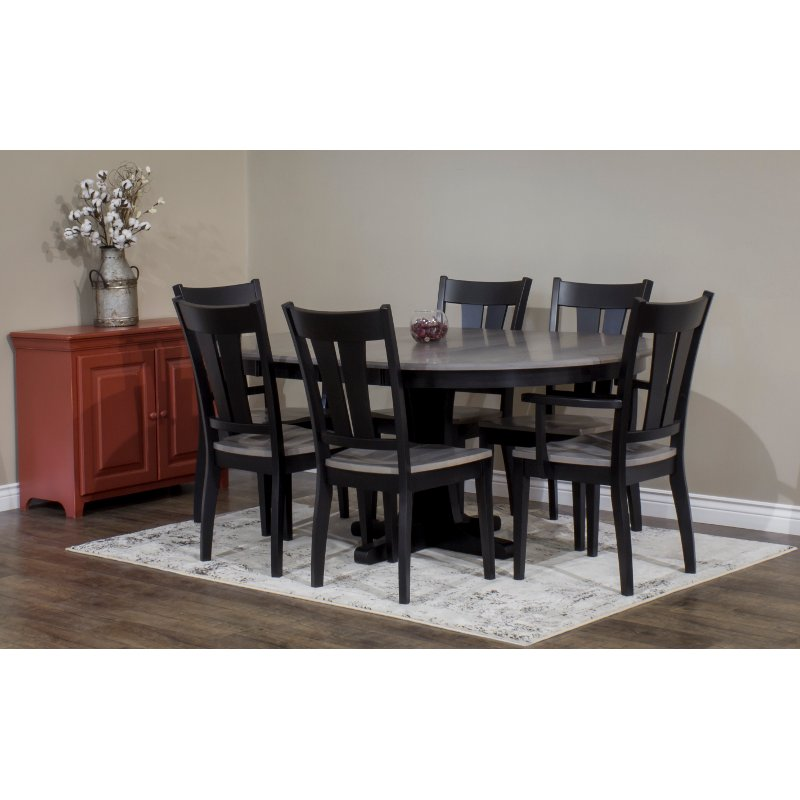 Dark Two Tone Brown 5 Piece Dining Set   Sterling | RC Willey Furniture  Store
