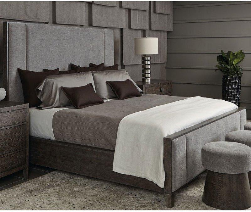Rustic Modern Charcoal Queen, Linea Queen Bed