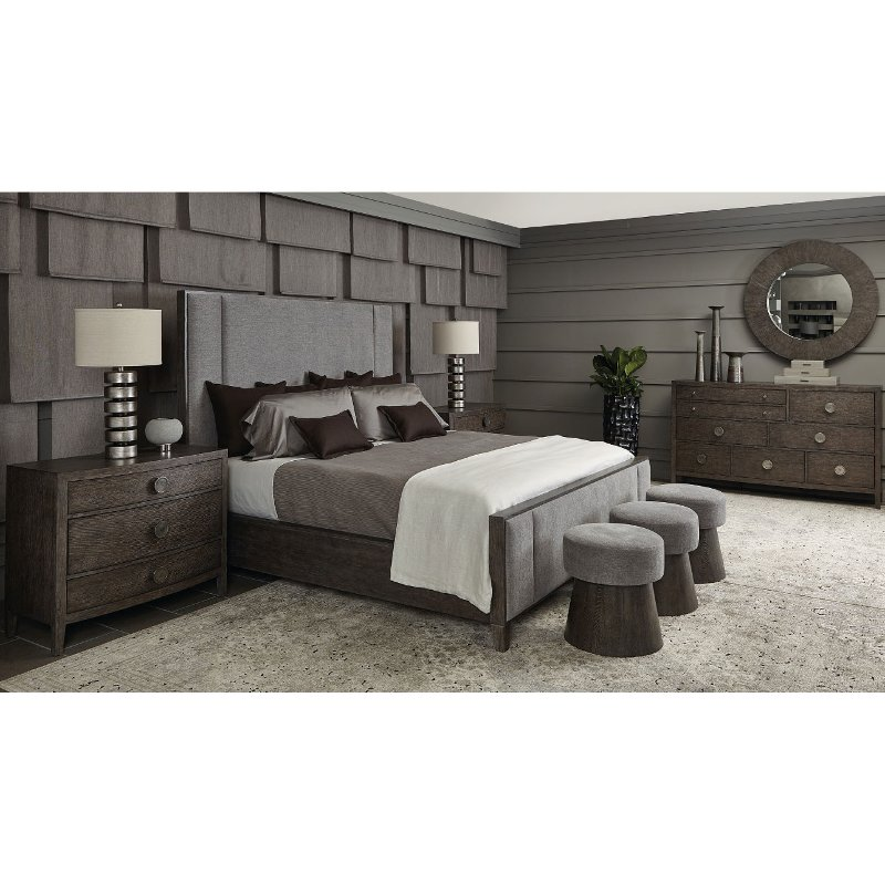 Rustic Modern Charcoal 4 Piece King Bedroom Set - Linea