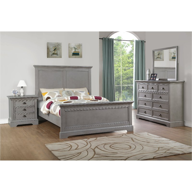 Casual Classic Gray 4 Piece King Bedroom Set Tamarack Rc Willey