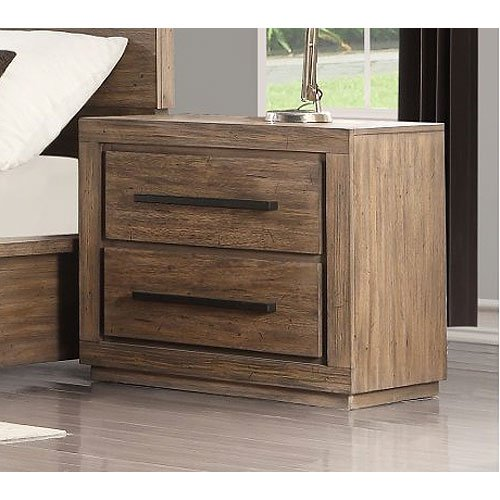 Modern Rustic Acacia Pine Nightstand - Haven | RC Willey ...