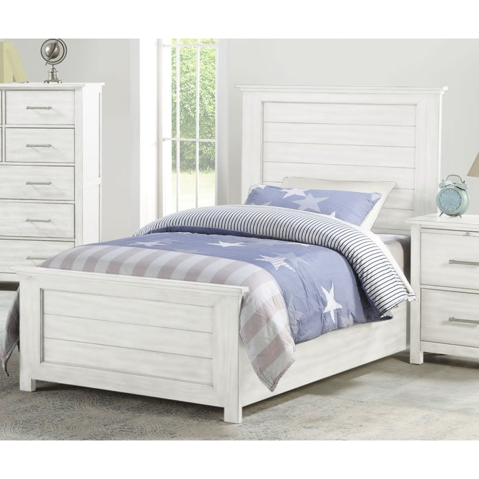 Cottage White Full Size Bed Edgewood Rc Willey Furniture Store