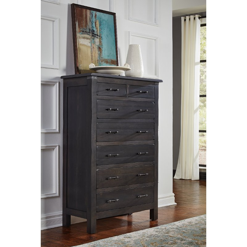 Rustic Clic Distressed Cherry Chest Of Drawers Colin