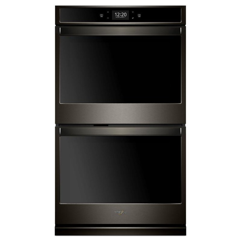 Whirlpool 27 Inch Smart Double Electric Wall Oven With True Convection Cooking Black Stainless Steel Rc Willey Furniture