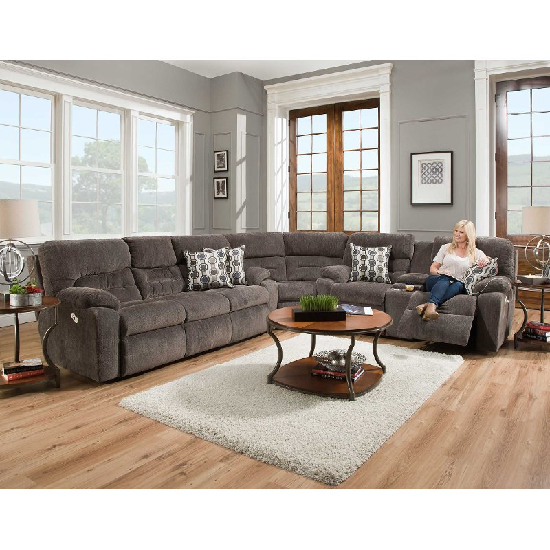Chocolate Brown 3 Piece Power Reclining Sectional Sofa - Tribute