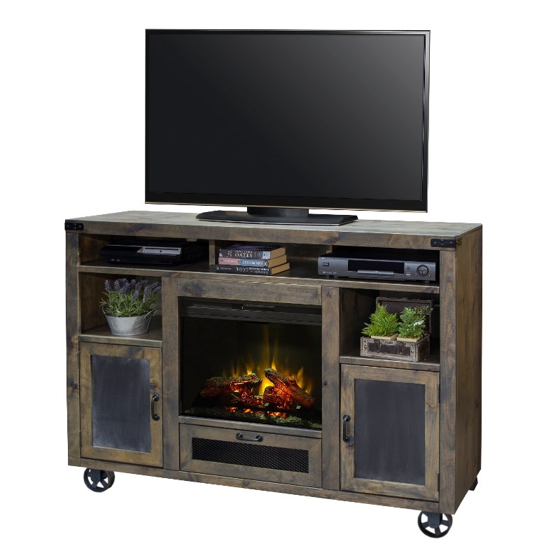 Sensational Rustic Barnwood 62 Inch Fireplace Tv Stand Cargo Download Free Architecture Designs Estepponolmadebymaigaardcom