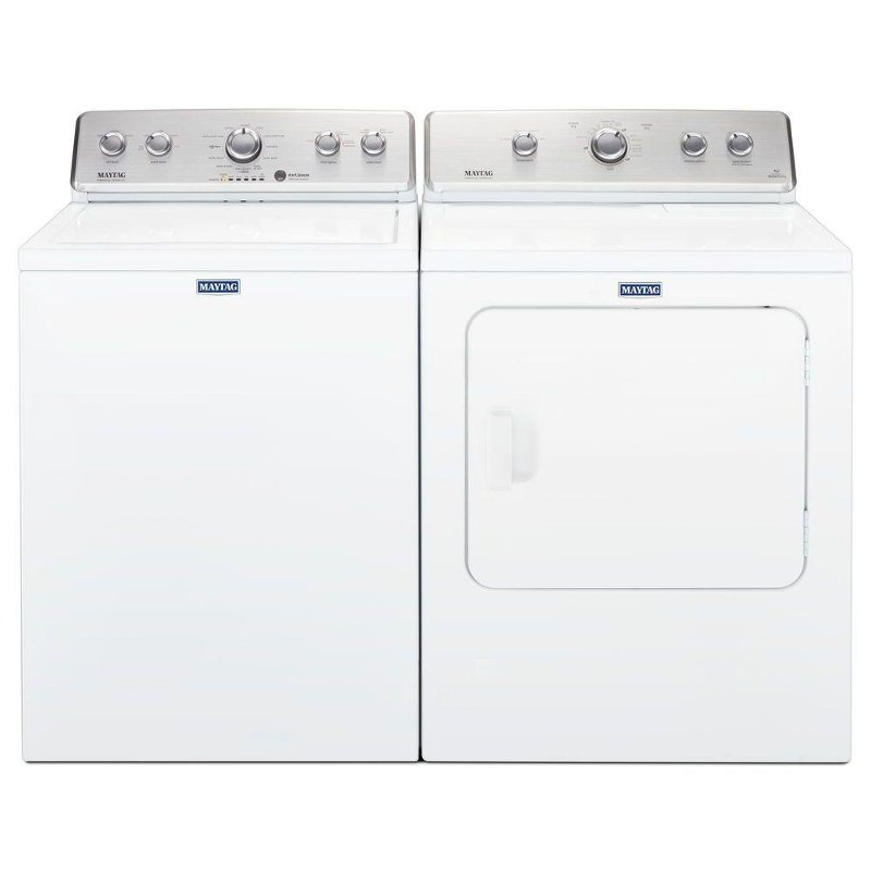 Maytag Top Load Washer And Dryer Laundry Set White Gas