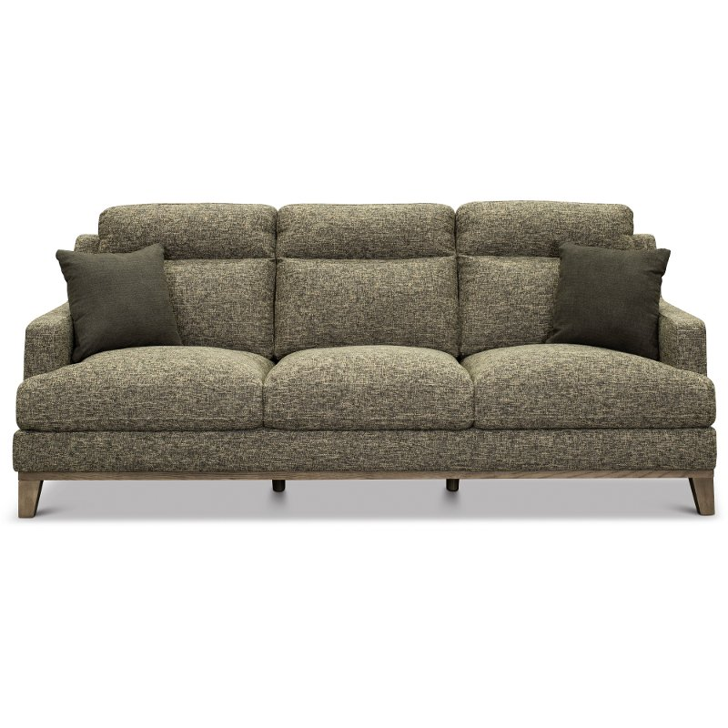 Contemporary charcoal gray and cream sofa irvine rc willey
