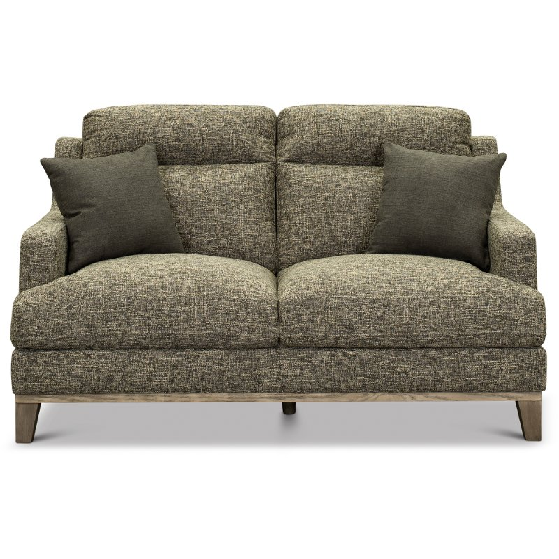 Pleasing Contemporary Charcoal Gray And Cream Loveseat Irvine Theyellowbook Wood Chair Design Ideas Theyellowbookinfo