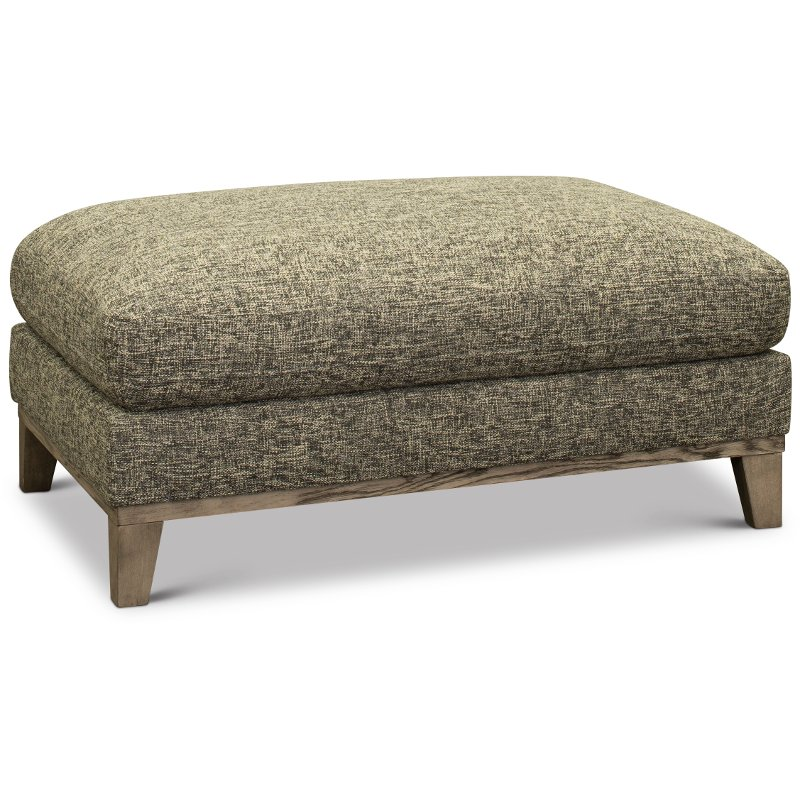 Pleasant Contemporary Charcoal Gray And Cream Ottoman Irvine Caraccident5 Cool Chair Designs And Ideas Caraccident5Info
