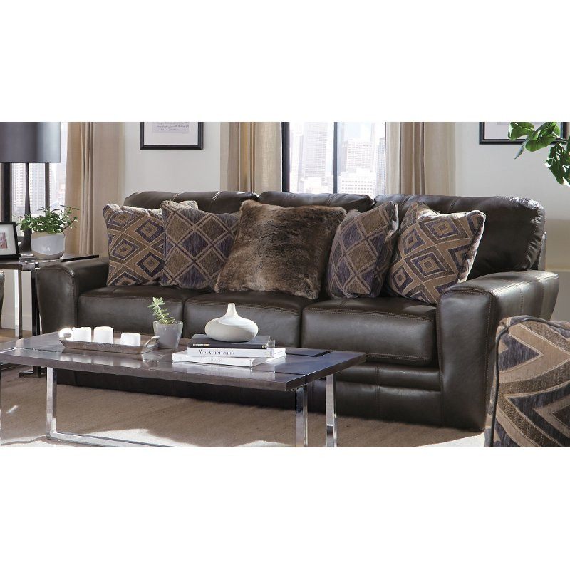 Groovy Classic Steel Gray Leather Sofa Denali Unemploymentrelief Wooden Chair Designs For Living Room Unemploymentrelieforg