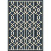 8 x 11 Large Blue Indoor-Outdoor Rug - Four Seasons