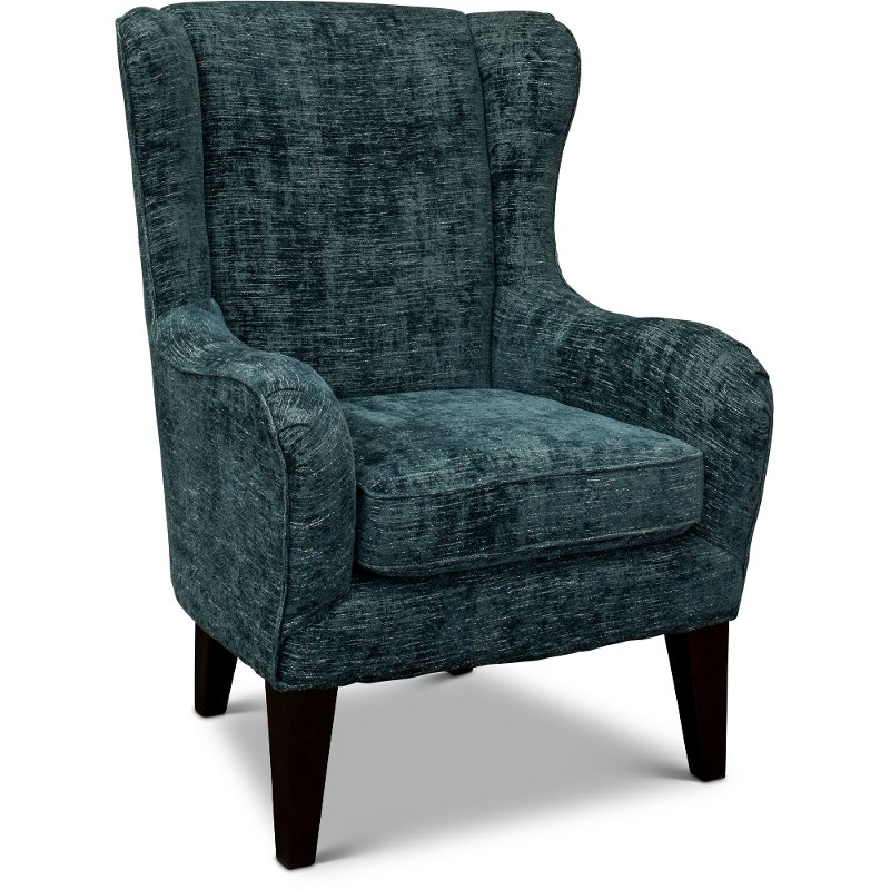 Tremendous Blue Aegean Wingback Accent Chair Lorette Gamerscity Chair Design For Home Gamerscityorg
