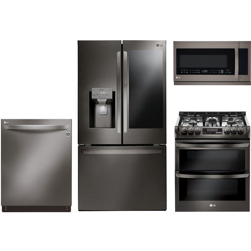 Lg 4 Piece Kitchen Appliance Package With Gas Range