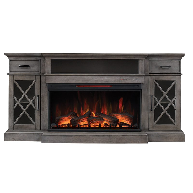 70 Inch Weathered Gray Fireplace Tv Stand Hamilton Rc Willey