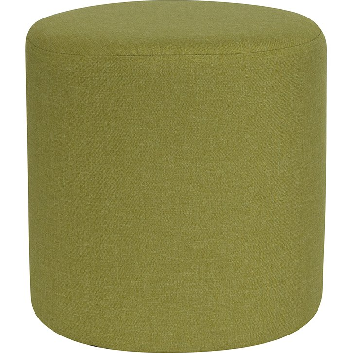Peachy Contemporary Green Round Ottoman Pouf Barrington Caraccident5 Cool Chair Designs And Ideas Caraccident5Info