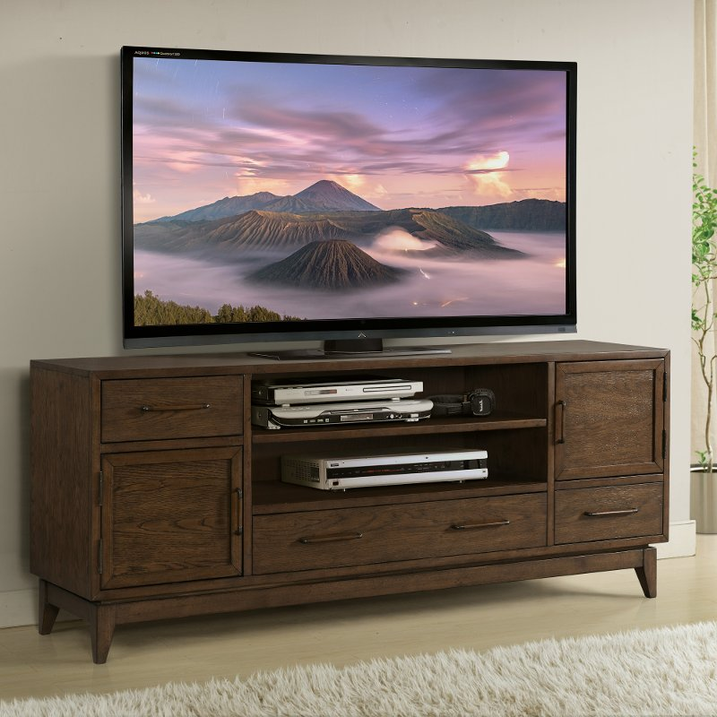 Brown Transitional 75 Inch Tv Stand Vogue Rc Willey Furniture Store