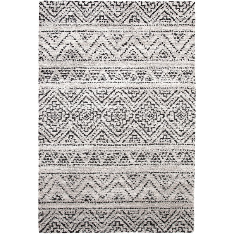 8 X 11 Large Beige Ivory And Charcoal Gray Area Rug Granada