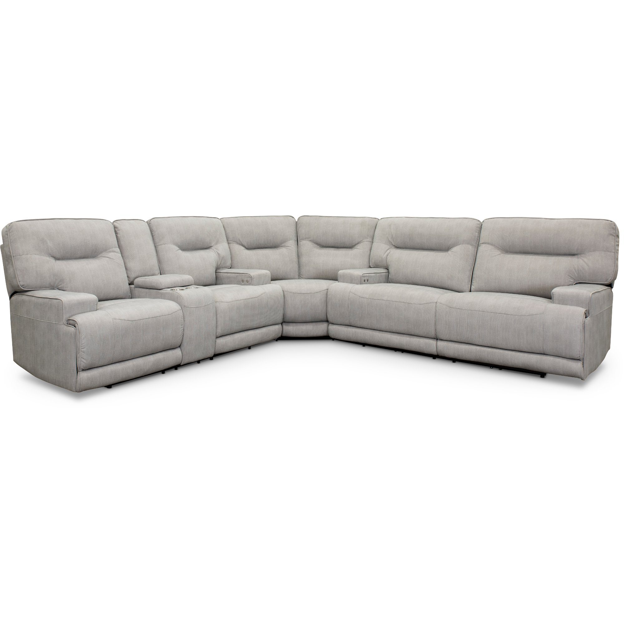 Sterling Gray 3 Piece Power Reclining Sectional Sofa - Stanza
