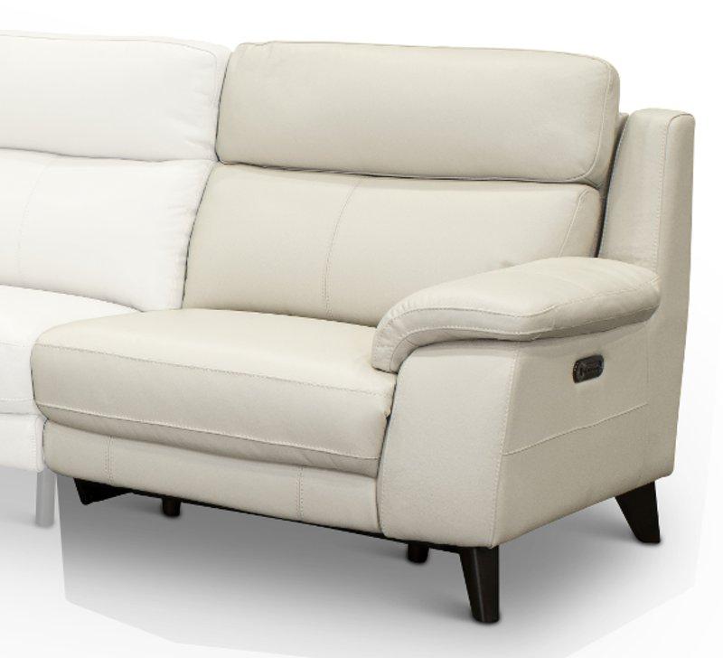 Tremendous Frost White Leather Match Right Arm Facing Power Recliner Venice Inzonedesignstudio Interior Chair Design Inzonedesignstudiocom