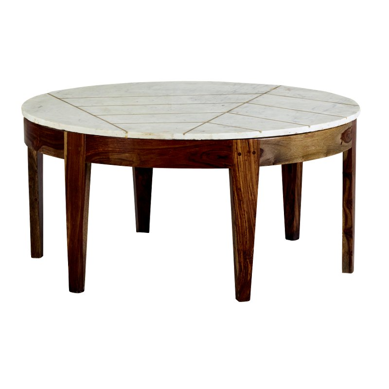 Brown And White Marble Coffee Table Marmoreal Rc Willey Furniture Store