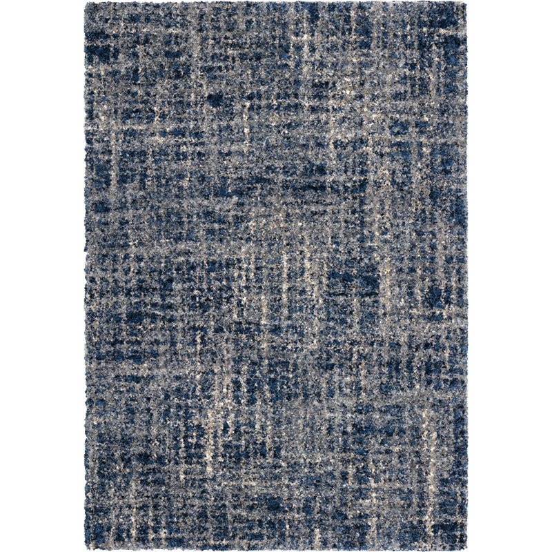 8 X 11 Large Navy Blue Rug Cotton Tail