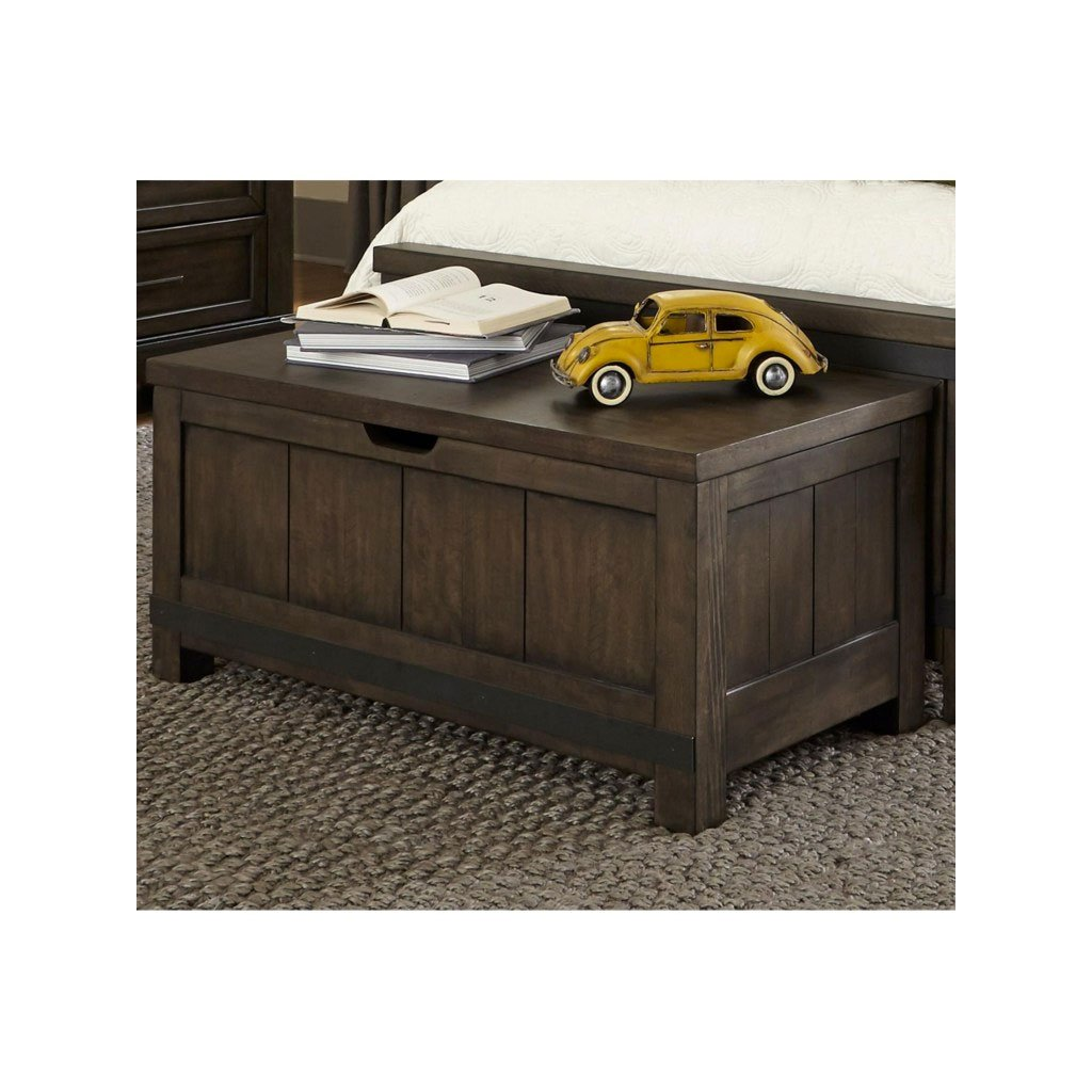 Industrial Rustic Gray Toy Chest Bench Thornwood Hills Rc