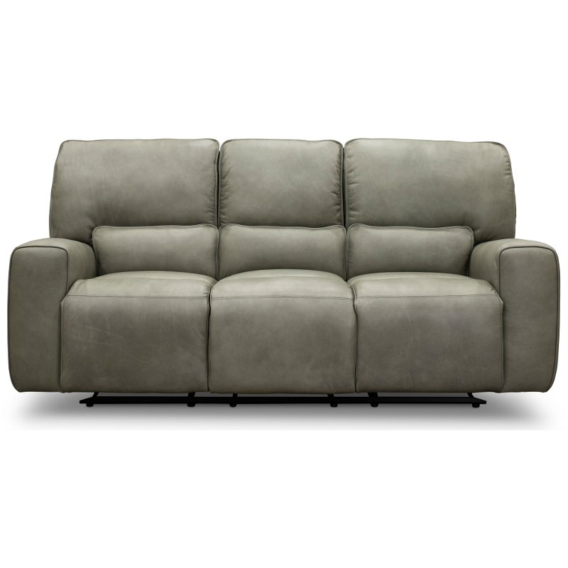 Miraculous Gray Leather Match Triple Power Reclining Sofa Madrid Bralicious Painted Fabric Chair Ideas Braliciousco