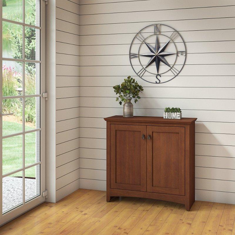 Light Cherry Kitchen Cabinets: Light Cherry Brown Storage Cabinet