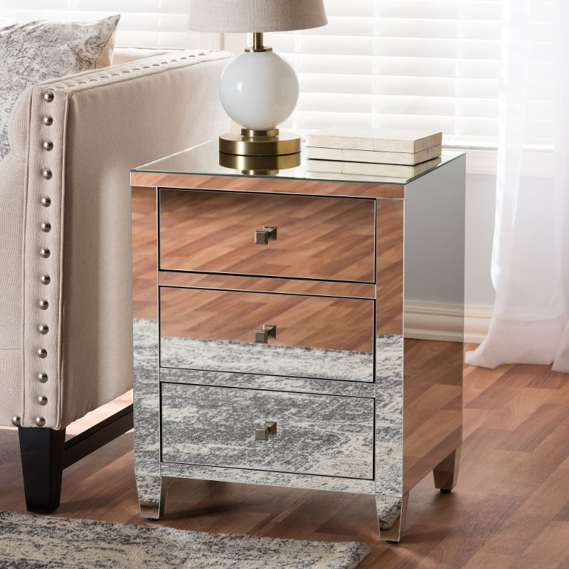136 7483 Rcw Contemporary Silver Mirrored Nightstand Rosalind