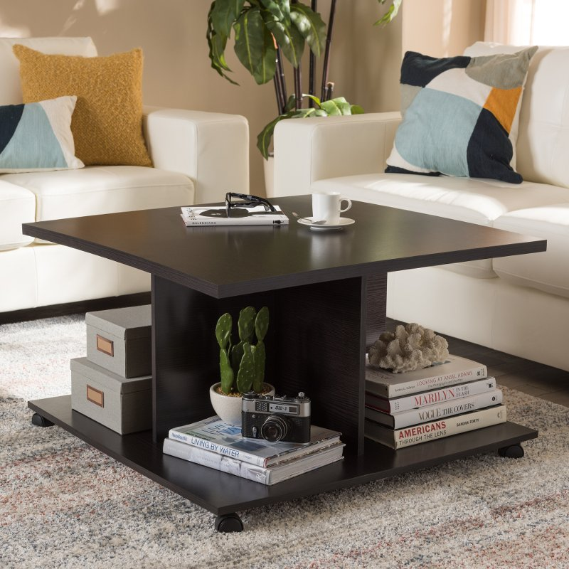 Modern And Contemporary Wenge Brown Coffee Table   Cladine | RC Willey  Furniture Store