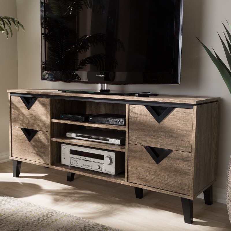 Modern And Contemporary Light Brown 55 Inch Tv Stand Beacon Rc