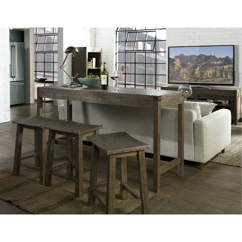 Astonishing Counter Height Sofa Table And Two Stools St Croix Machost Co Dining Chair Design Ideas Machostcouk