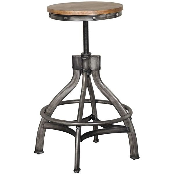 Astounding Rustic Brown Adjustable Bar Stool Chandler Onthecornerstone Fun Painted Chair Ideas Images Onthecornerstoneorg