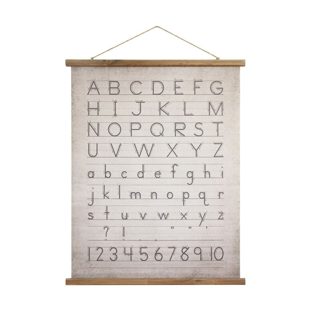 Alphabet And Numbers Canvas And Wood Scroll Wall Decor Rc Willey
