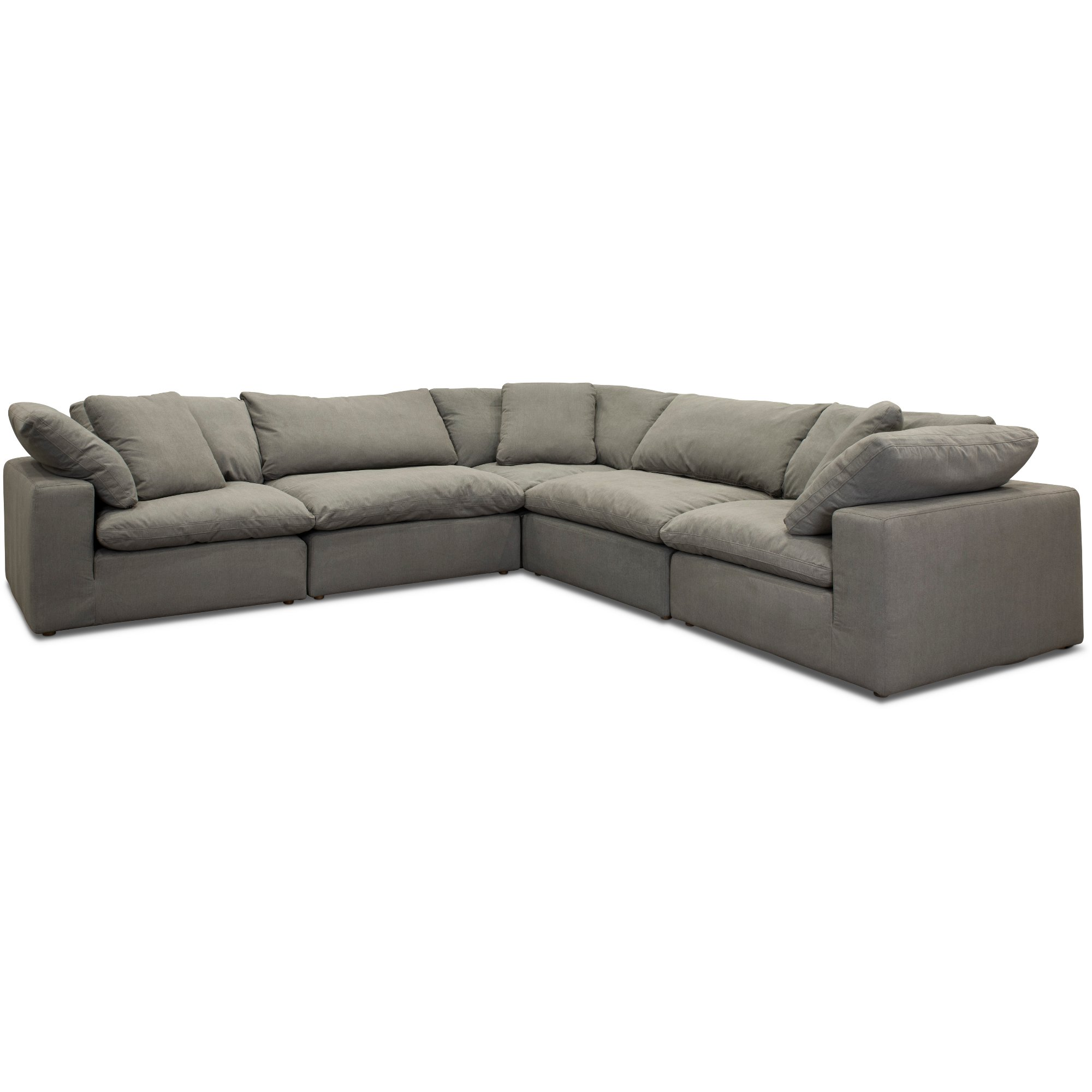 Slate Gray 5 Piece Sectional Sofa - Peyton | RC Willey Furniture Store