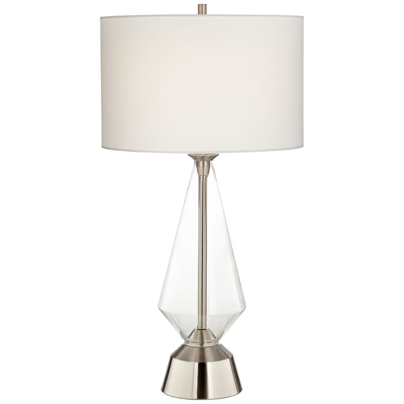 Clear Glass Table Lamp With Brushed Steel Base Bellini Rc Willey