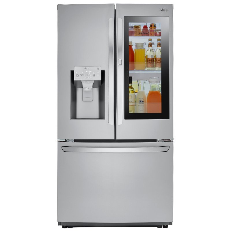 LG French Door Refrigerator   36 Inch Counter Depth Stainless Steel | RC  Willey Furniture Store