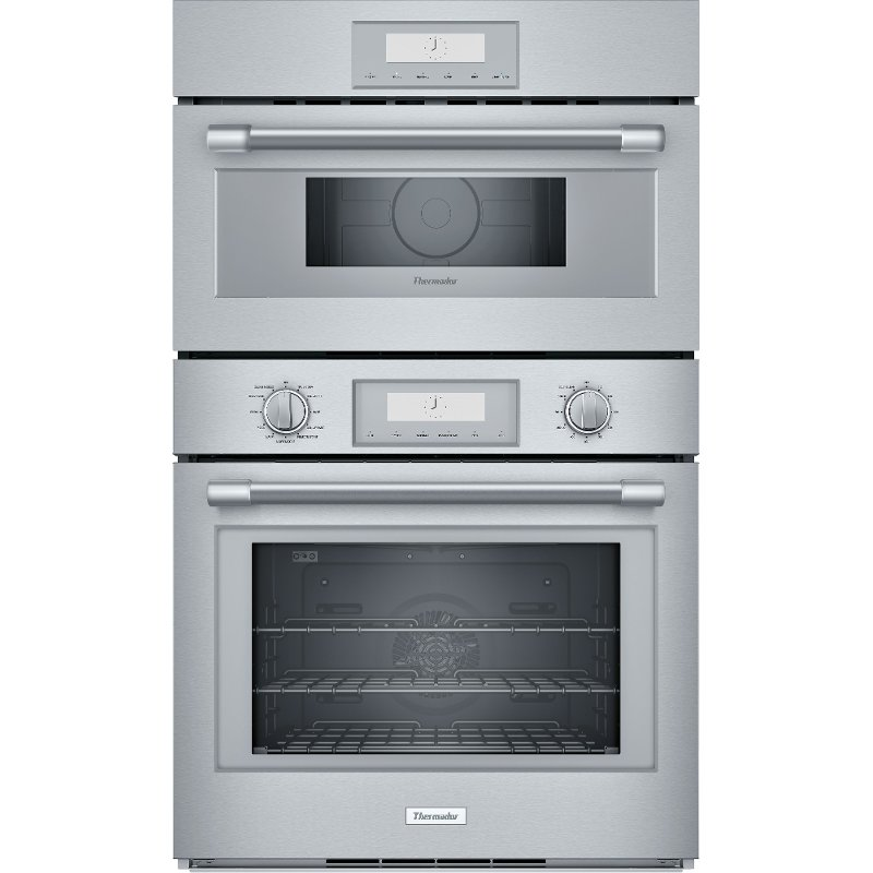 Thermador 30 Inch Smart Combination Wall Oven With Microwave 6 1 Cu Ft Stainless Steel