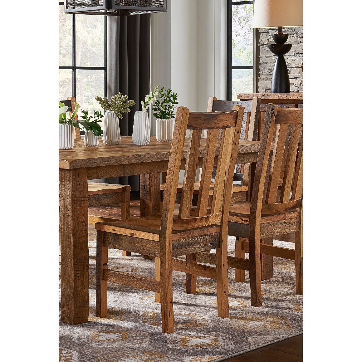 Astounding Rustic Reclaimed Wood Dining Room Chair Barnwood Home Interior And Landscaping Eliaenasavecom