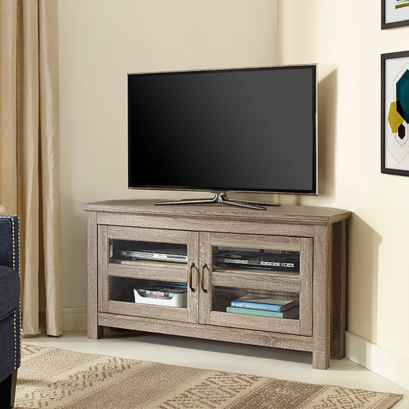 Driftwood 44 Inch Corner Tv Stand Rc Willey Furniture Store