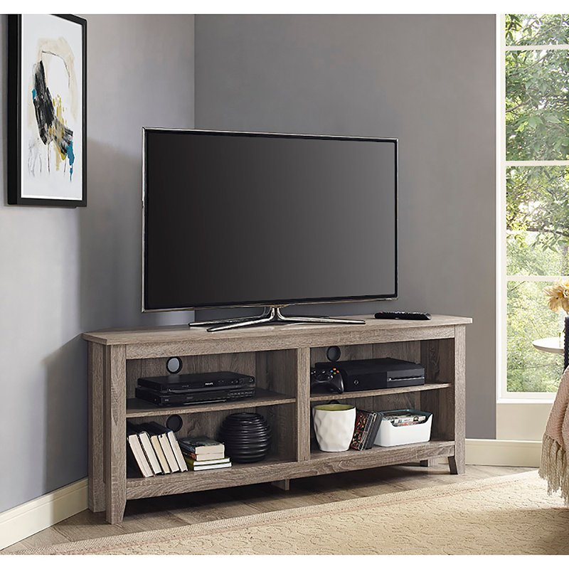 the latest 192ac 7c266 58 Inch Driftwood Corner TV Stand