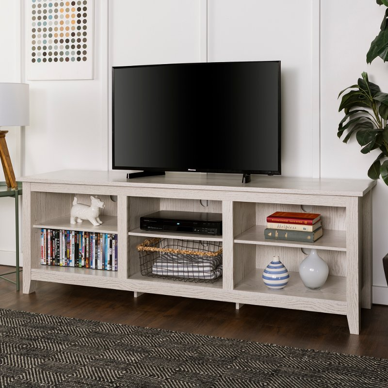 Modern 70 Inch White Wash Tv Stand Rc Willey Furniture Store