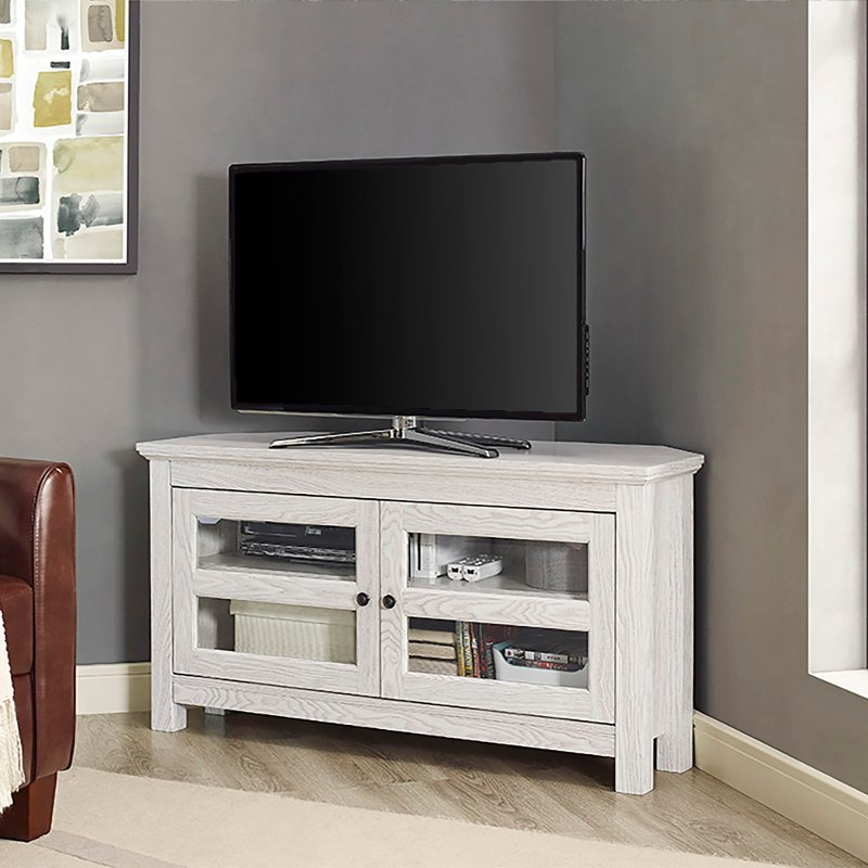 White 44 Inch Corner Tv Stand