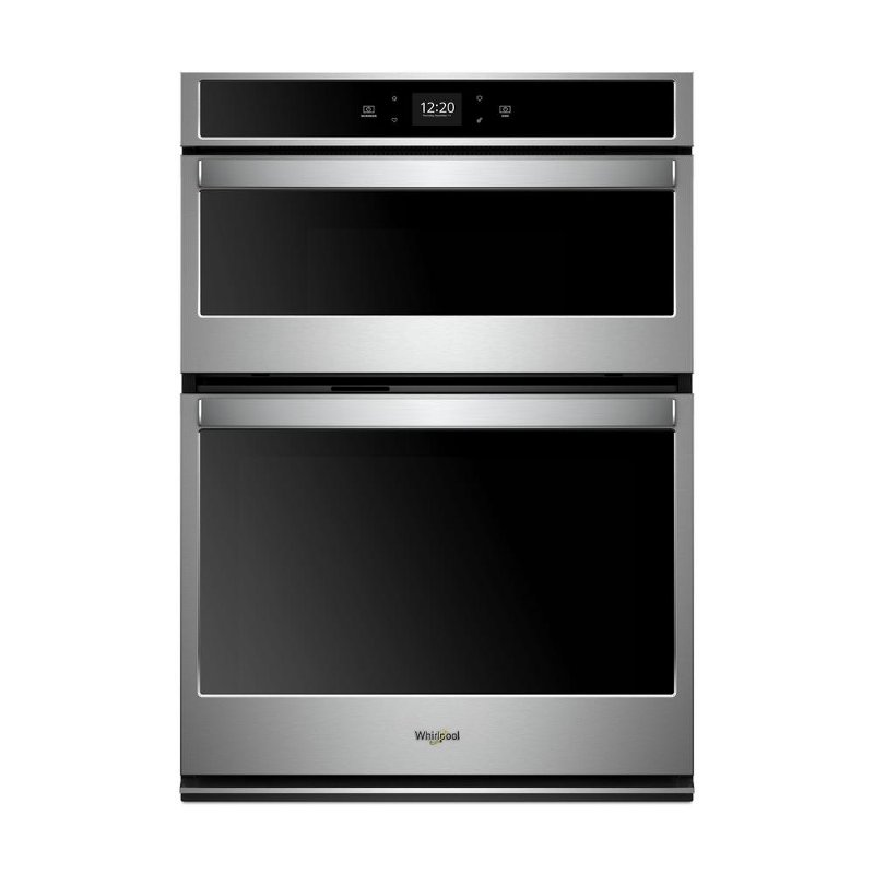 Woc54ec7hs Whirlpool 27 Inch Smart Combination Wall Oven With Microwave 5 7 Cu Ft