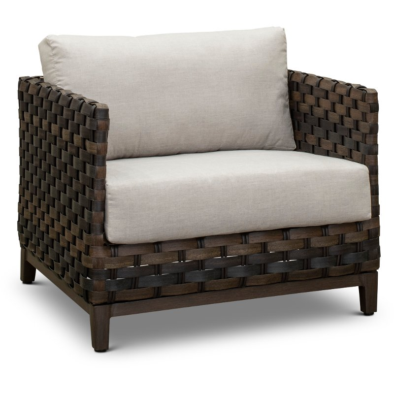 Patio Wicker Lounge Chair With