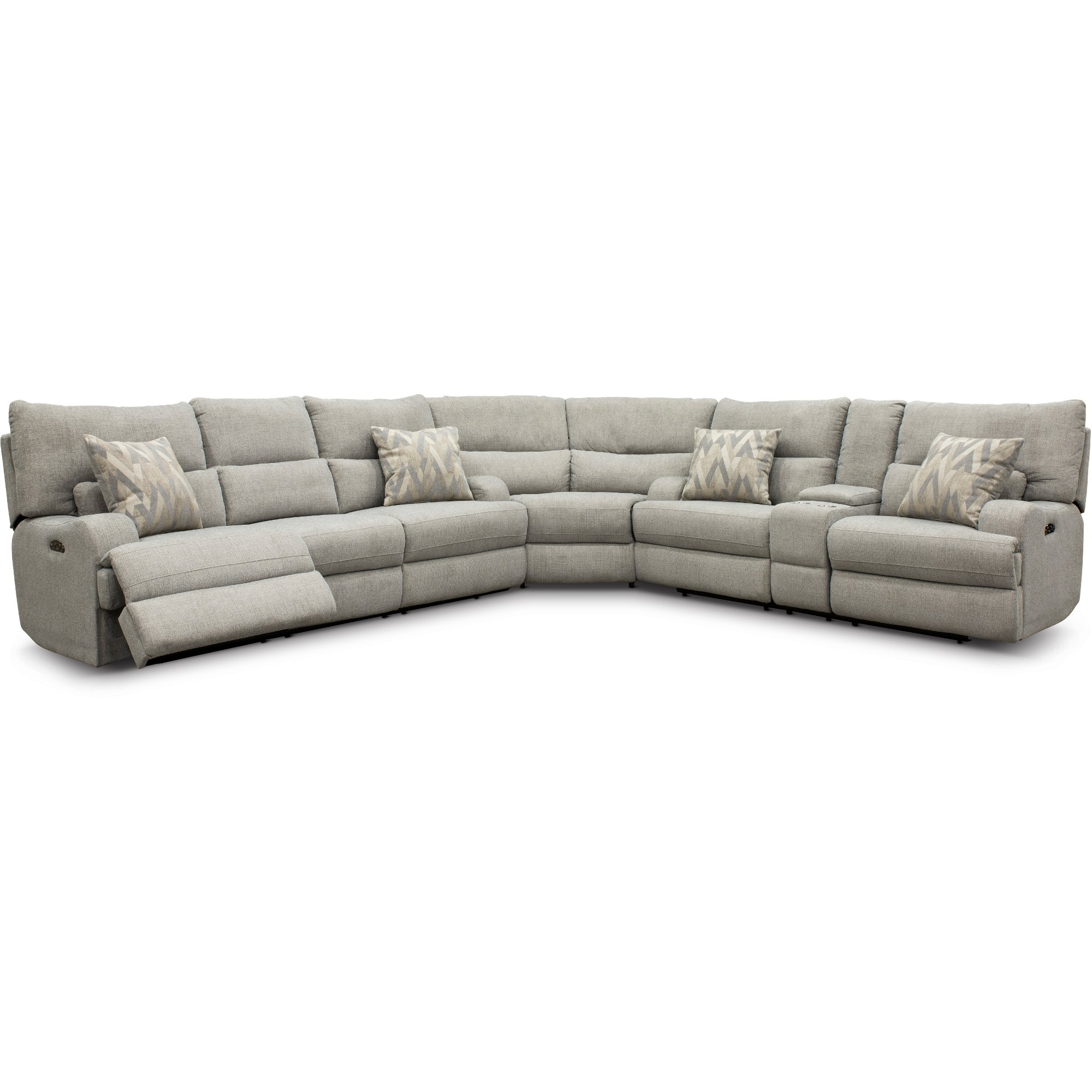 Archie Shark Gray Power Reclining Sectional Sofa Brindle