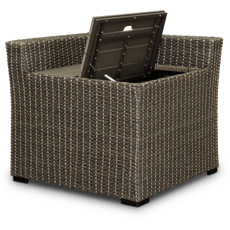 Modular Wicker Patio Sectional Corner With Storage Tahoe Rc Willey Furniture